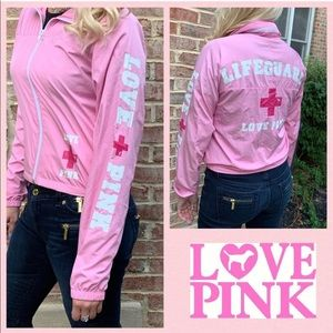 VS PINK Lifeguard On Duty Windbreaker Jacket SM